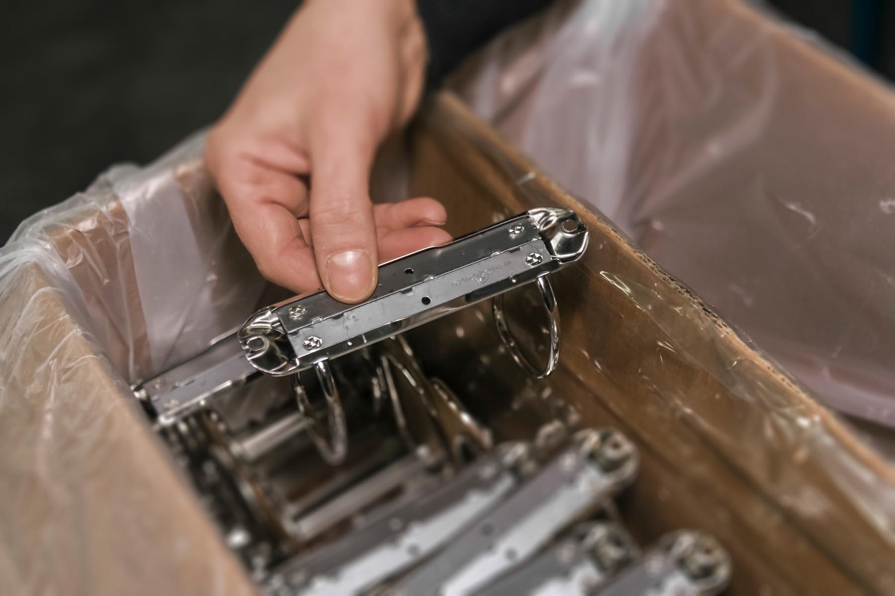 Verschillende ringband mechanieken