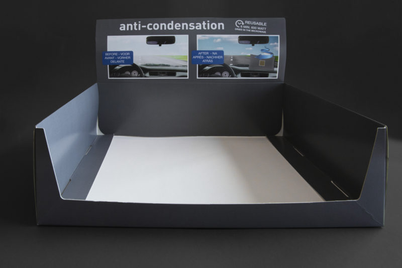 Toonbank display air condensation