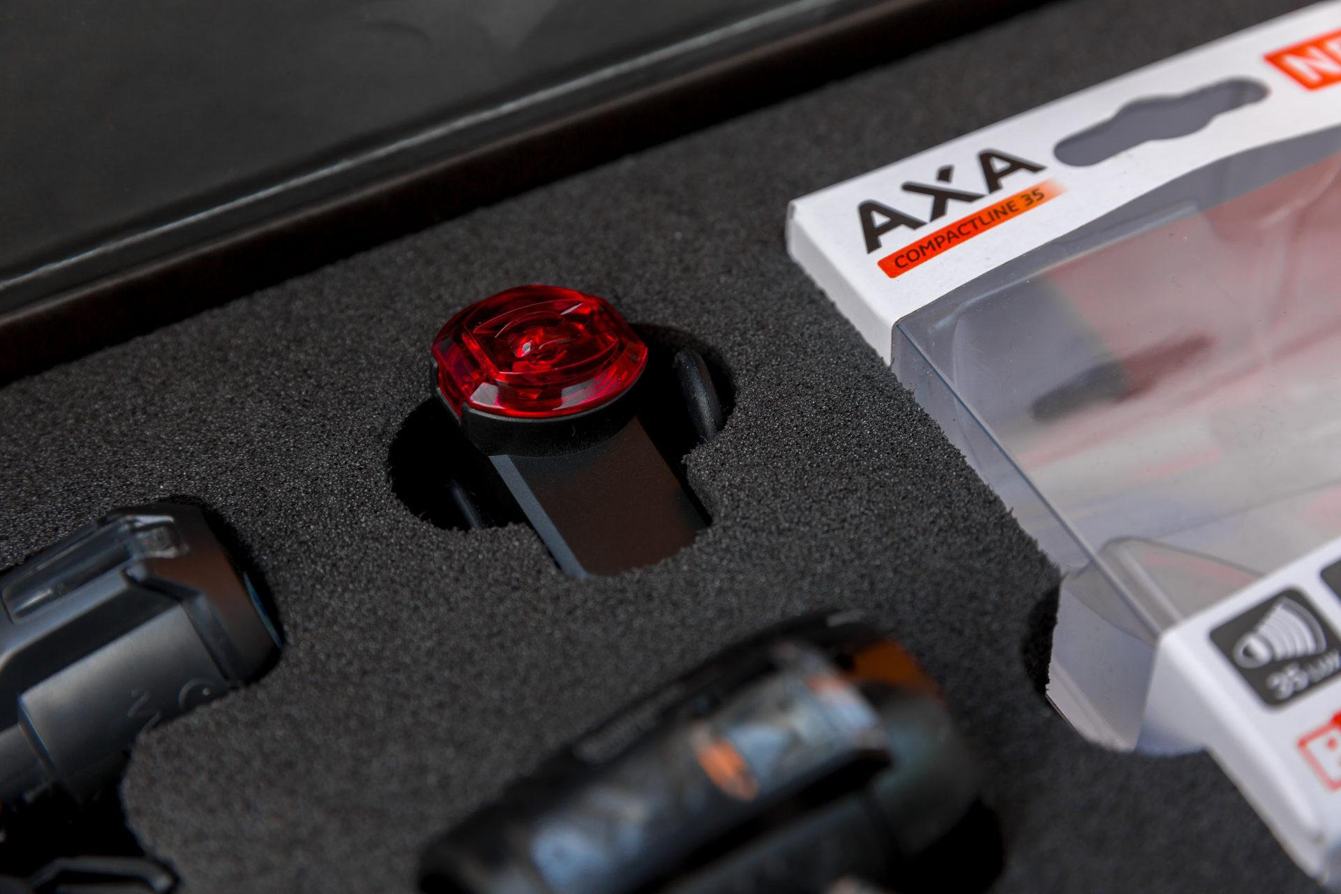 Zwarte AXA Presentatie koffer met inhoud