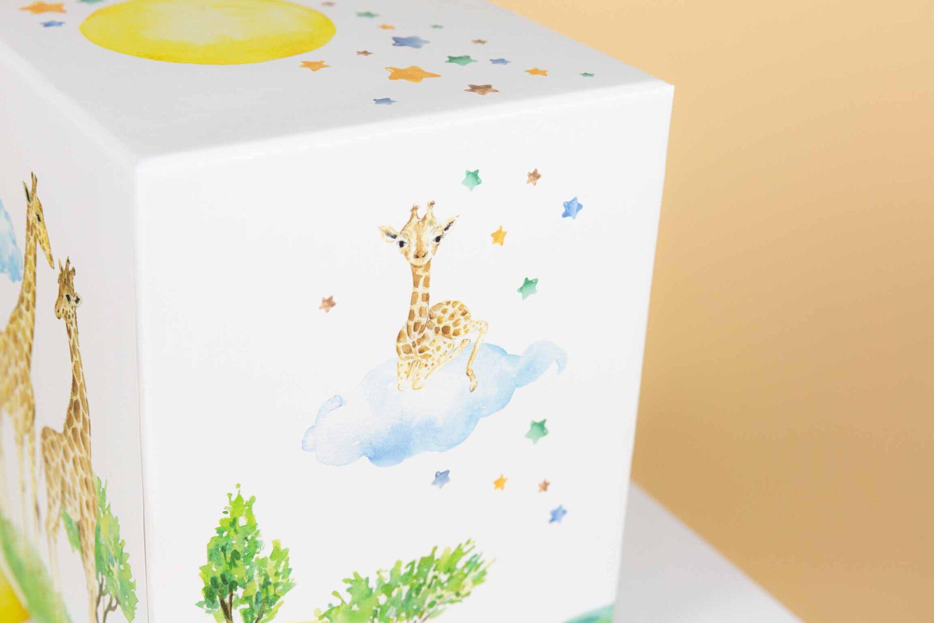 Doos met deksel set – Giraffe